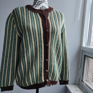 Sweaters - Stripe Funky Vintage Button Spring Cardigan